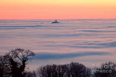Glastonbury Tor Above The Fog Poster