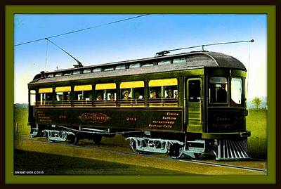 Glen Route Trolley, Elmira-watkins Glen N Y, 1910 Poster by Dwight GOSS