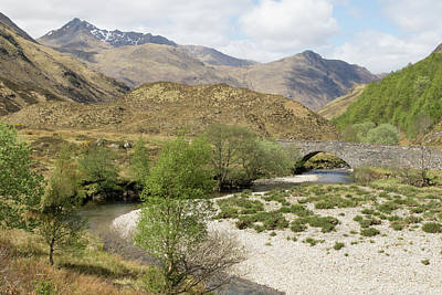 Poster featuring the photograph Glen Shiel - Scotland by Karen Van Der Zijden