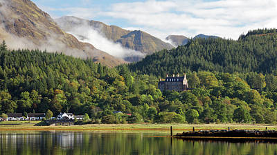 Poster featuring the photograph Glencoe House Landscape by Grant Glendinning