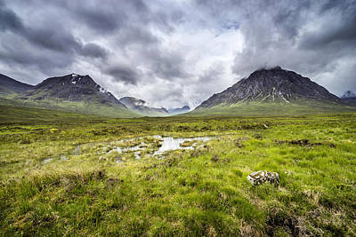 Poster featuring the photograph Glencoe by Jeremy Lavender Photography