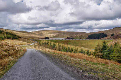 Poster featuring the photograph Glensherup Reservoir by Jeremy Lavender Photography