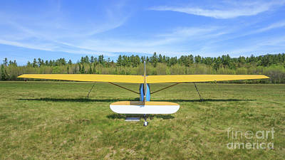 Glider Plane At Rural Airport Poster