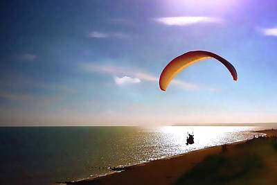 Gliding Poster by Sharon Lisa Clarke