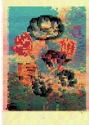 Poster featuring the digital art Glitched Tulips by Bee-Bee Deigner