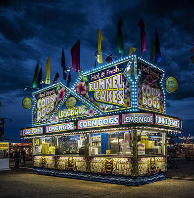 Glittering Concession Stand At The Colorado State Fair In Pueblo In Colorado Poster