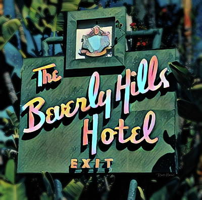 Glitzy Beverly Hills Hotel Poster by Russ Harris