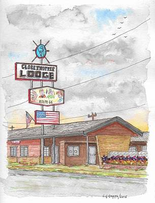 Globetrotter Lodge In Route 66, Holbrook, Arizona Poster