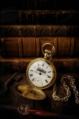 Glod Train Pocket Watch Poster by Garry Gay