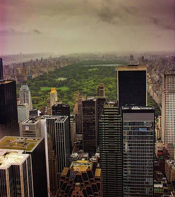 Gloomy Central Park Poster