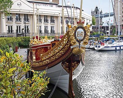 Gloriana - The Royal Barge Poster by Gill Billington