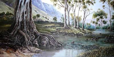 Glorious Gums - Flinders Ranges Poster by Diko