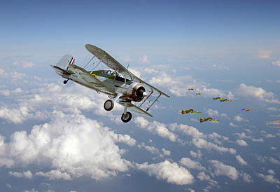 Gloster Gladiator - Malta Defiant Poster by Pat Speirs