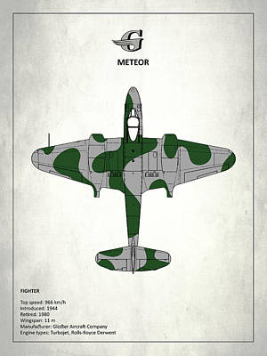 Gloster Meteor Poster by Mark Rogan