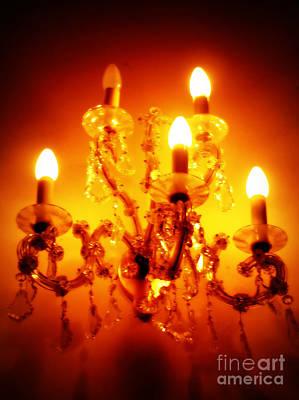 Glowing Chandelier Poster by Carol Groenen