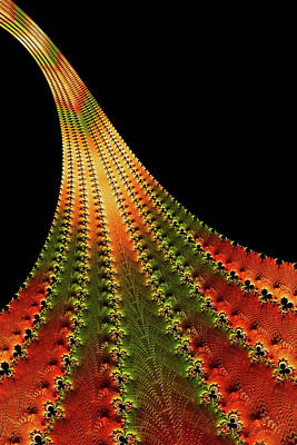 Glowing Leaf Of Autumn Abstract Poster by Georgiana Romanovna