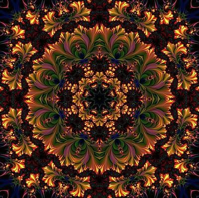 Glowing Mandala Ornament Poster by Lilia D