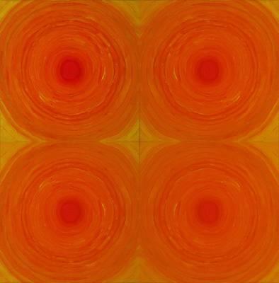 Glowing Orange Poster
