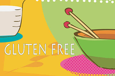 Gluten Free Poster by Tina M Wenger
