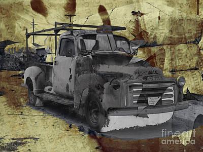Gmc Pickup Poster by Robert Ball