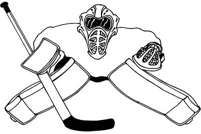 Goalie Equipment Poster by Hockey Goalie