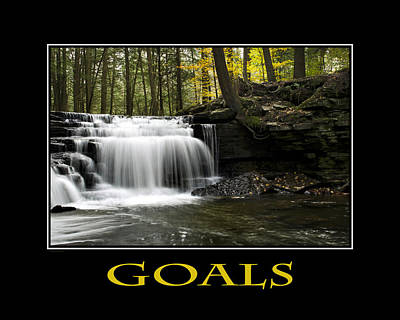 Goals Inspirational Motivational Poster Art Poster by Christina Rollo