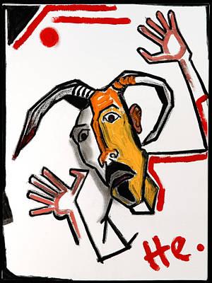 Goat 24x18 Poster