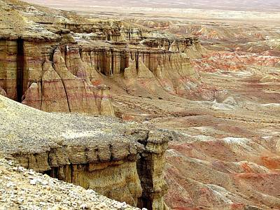 Gobi Desert White Cliffs Poster