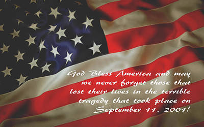 God Bless America September 11 2001 Poster by Floyd Snyder