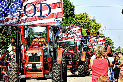 Poster featuring the photograph God Bless America And Farmers by Toni Hopper