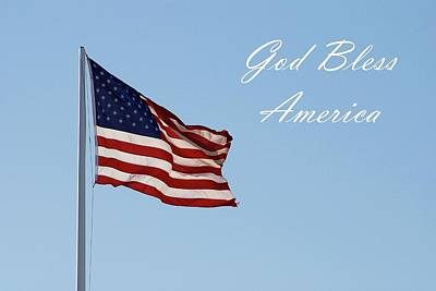 God Bless America Poster by Angie Tirado