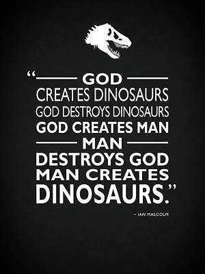 God Creates Dinosaurs Poster by Mark Rogan