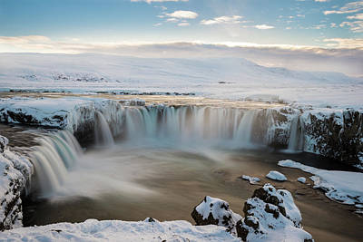 Godafoss Iceland Poster by Sanket Sharma