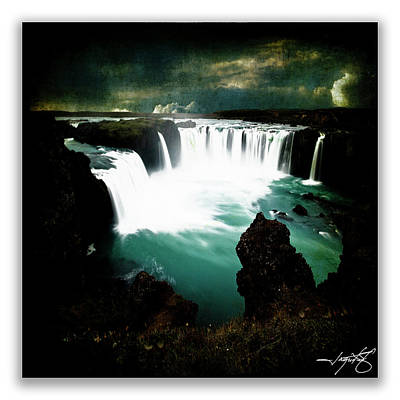 Godafoss Poster by Ingrid Smith-Johnsen