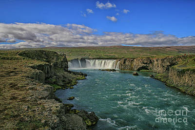 Godafoss Waterfalls In Iceland Poster