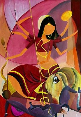 Goddess Durga Poster by Amrita M
