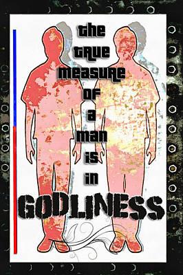 Godliness Poster by Michelle Greene Wheeler