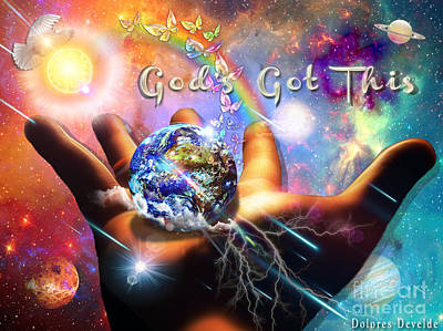 God's Got This Poster by Dolores Develde