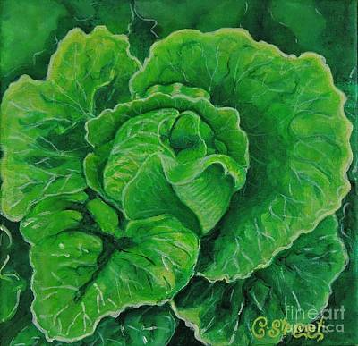 God's Kitchen Series No 5 Lettuce Poster