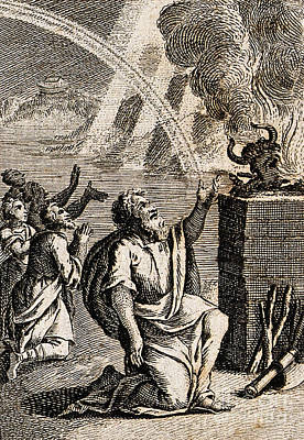Gods Rainbow Answers Noahs Sacrifice Poster by Wellcome Images