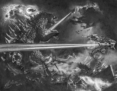 Godzilla Vs. Earth's Mightiest Heroes Poster