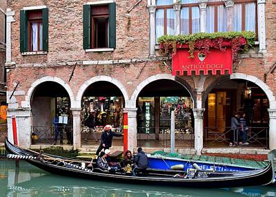 Going For A Gondola Ride Poster by Frozen in Time Fine Art Photography