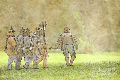 Going Into Battle Confederate Soldiers Poster