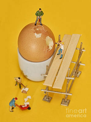Going To Work On An Egg Poster by John Boud
