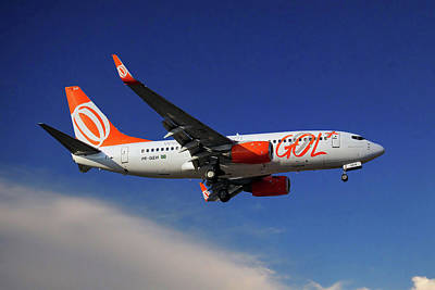 Gol Transportes Aereos Boeing 737-76n Poster