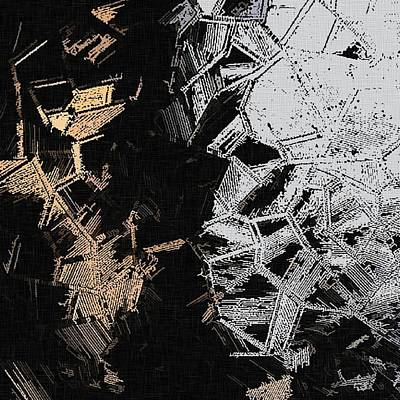 Gold And Silver Abstraction, Crystals Pattern Poster by Mister X