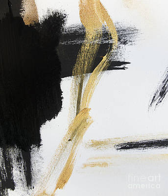 Gold Black And White Modern Abstract Poster by WALL ART and HOME DECOR