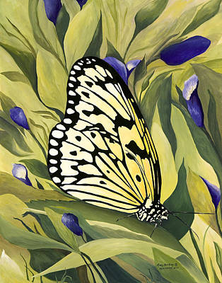 Gold Butterfly In Branson Poster