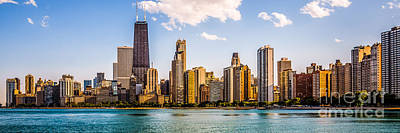 Gold Coast Chicago Skyline Panorama Poster by Paul Velgos