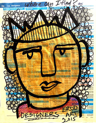 Gold King Poster by Robert R Splashy Art Abstract Paintings